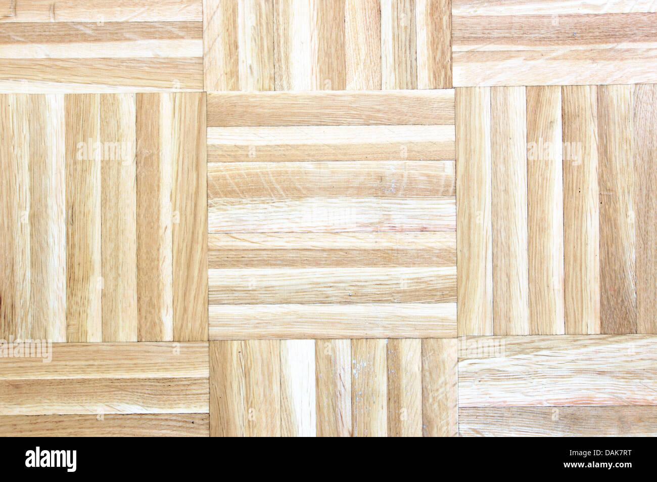 parquet of wooden floor - Stock Image