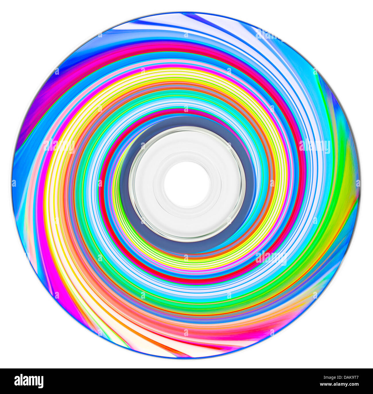 rolling compact disc - Stock Image