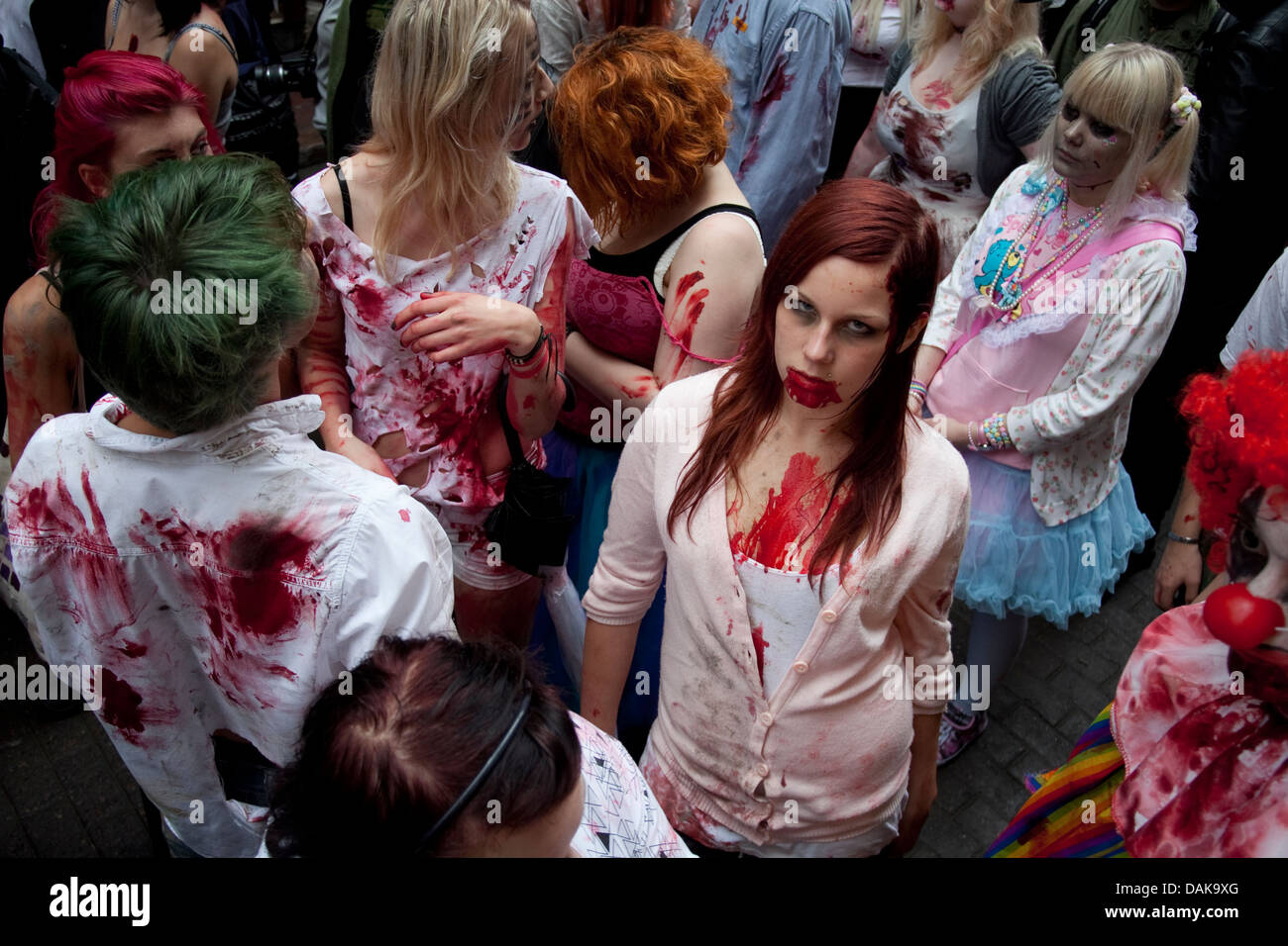 Zombies at Stockholm Zombie Walk 2011. This is Rebecka. - Stock Image