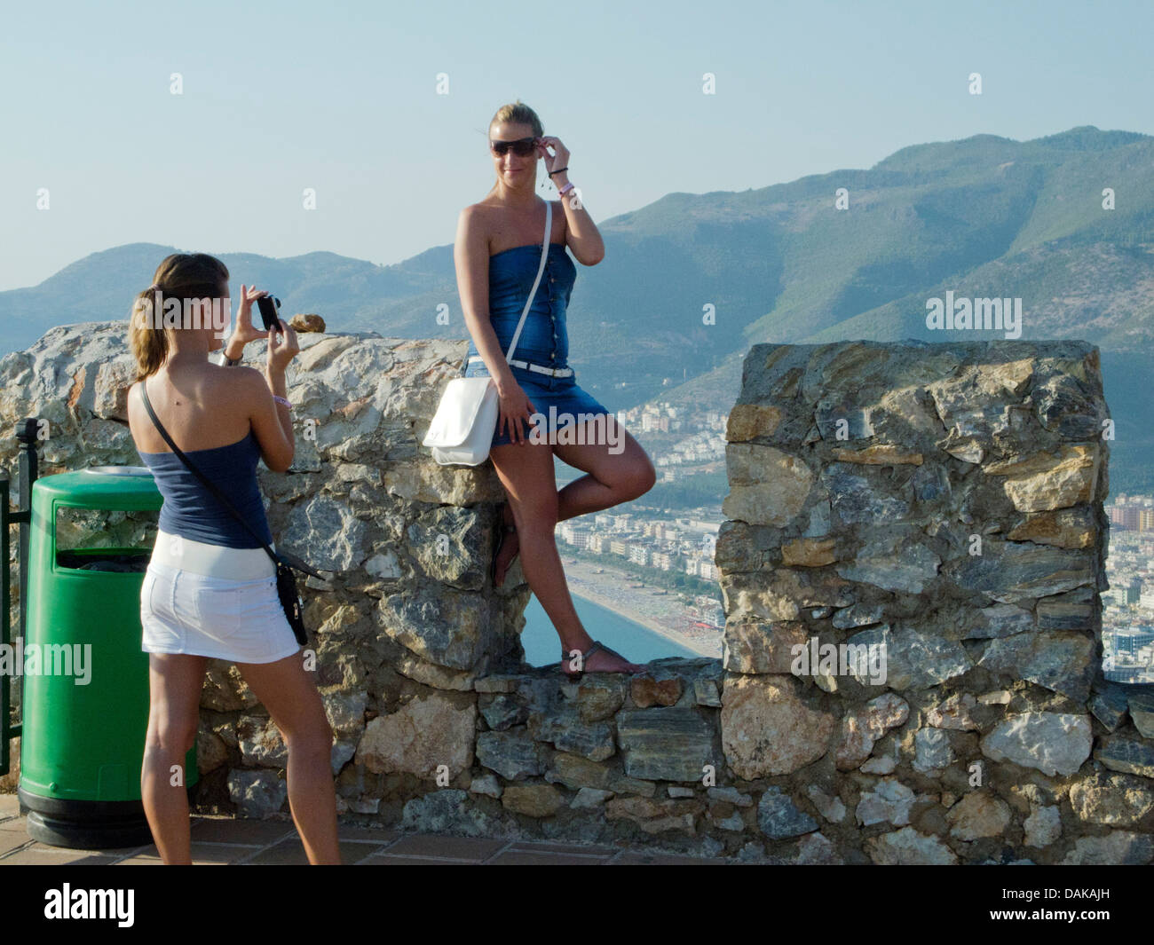 Türkei, Provinz Antalya, Alanya, Festung, Ic Kale, die Obere Burg - Stock Image