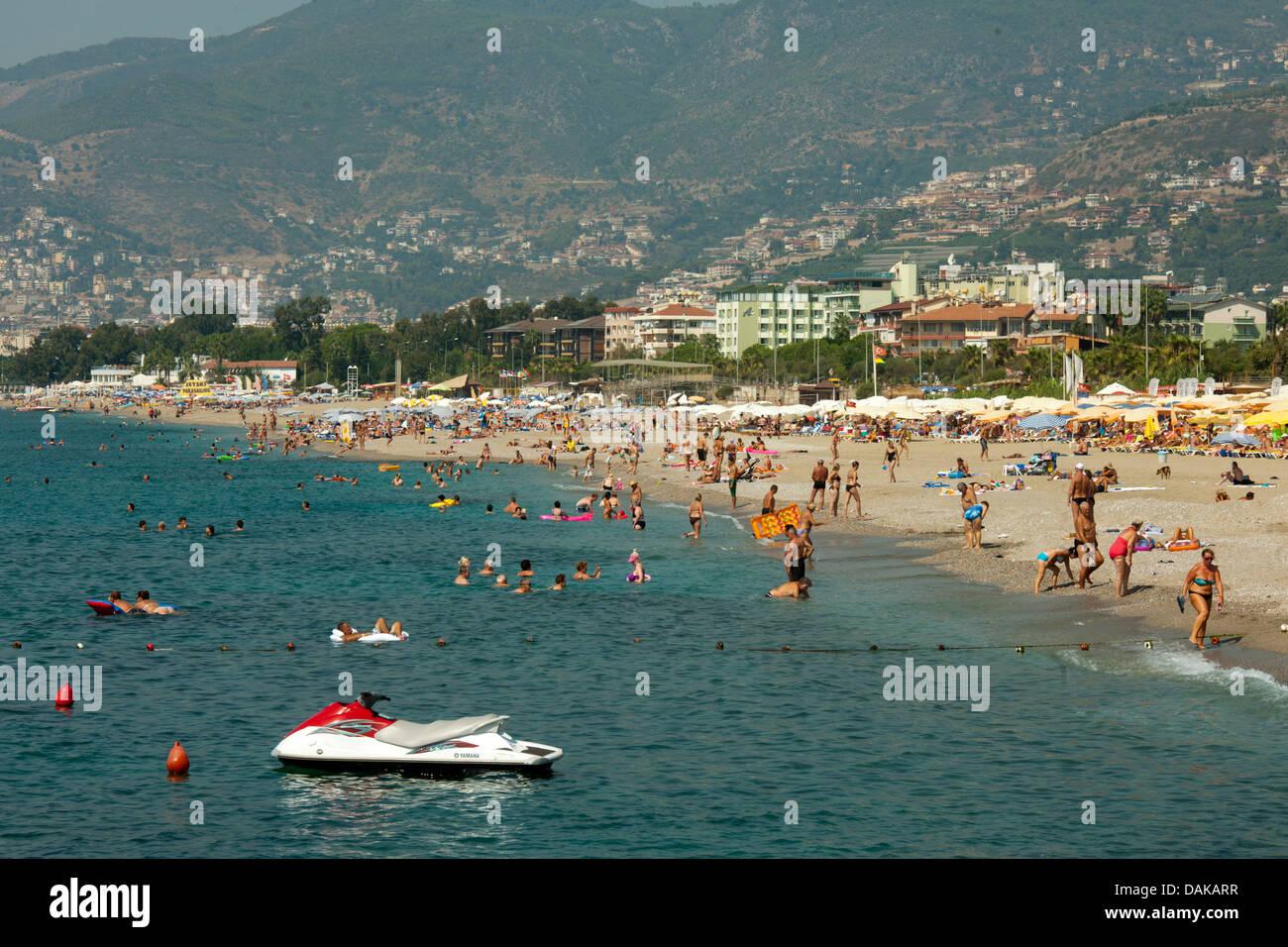 Türkei, Provinz Antalya, Alanya, Oststrand - Stock Image