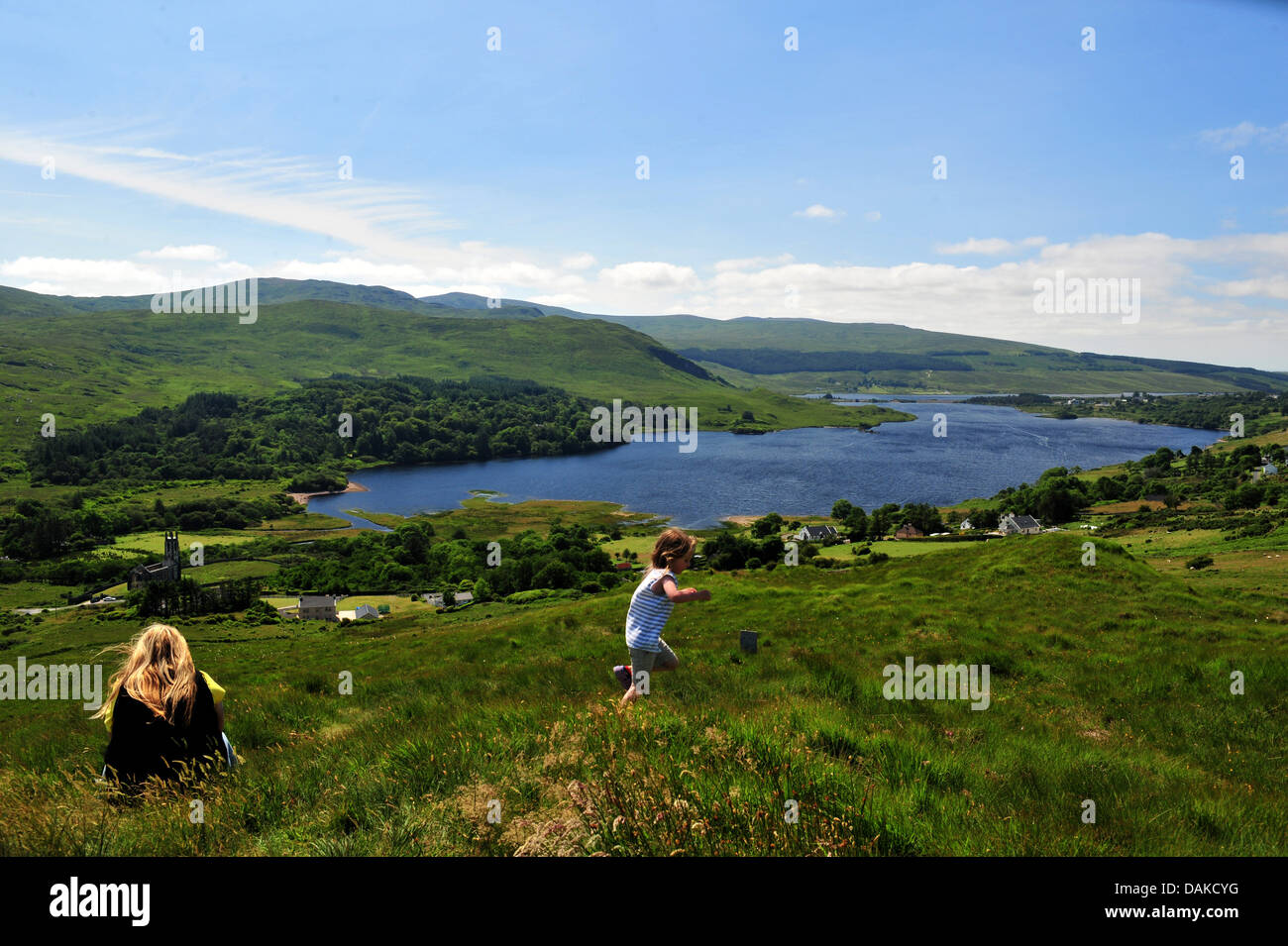 Dunlewey Church of Ireland, Poisoned Glen and Lough Na Kung,  County Donegal, Ireland. - Stock Image