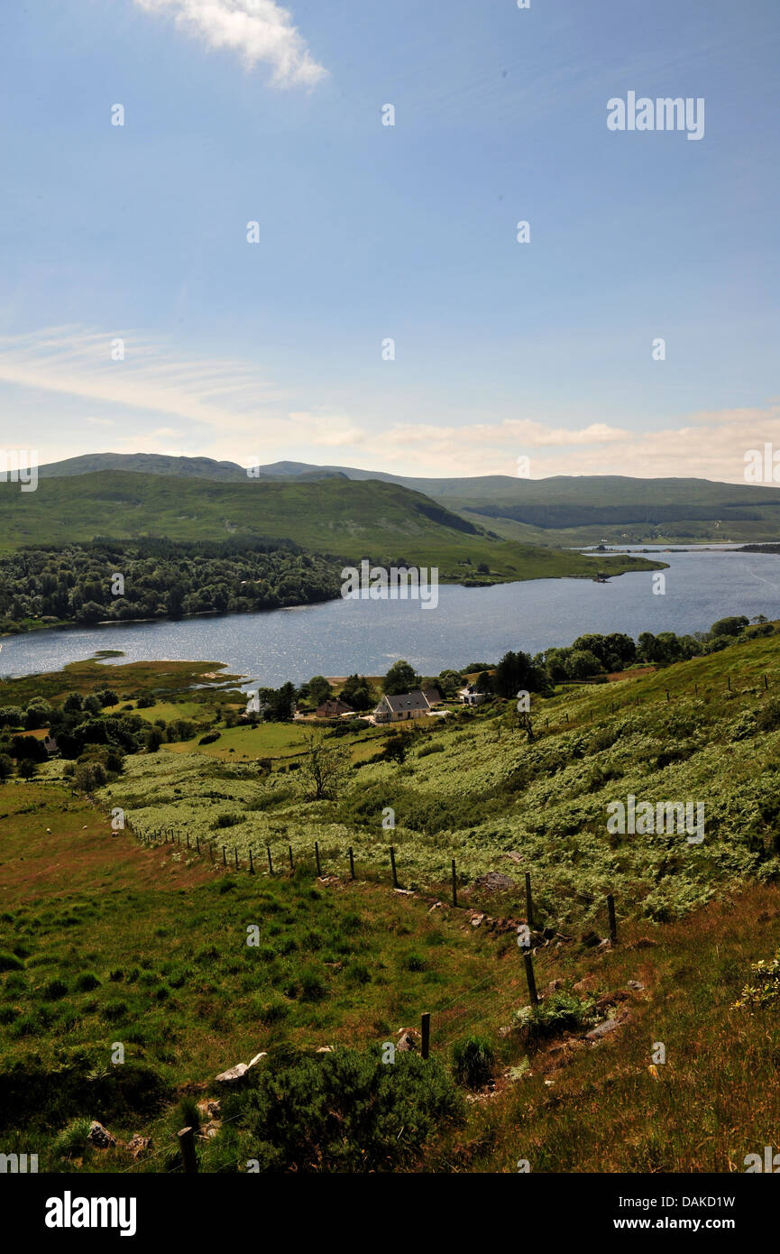 The Poisoned Glen and Lough Na Kung, Dunlewey, County Donegal, Ireland. - Stock Image