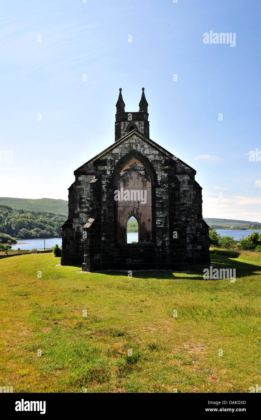 Dunlewey Church of Ireland, Poisoned Glen, County Donegal, Ireland. - Stock Image