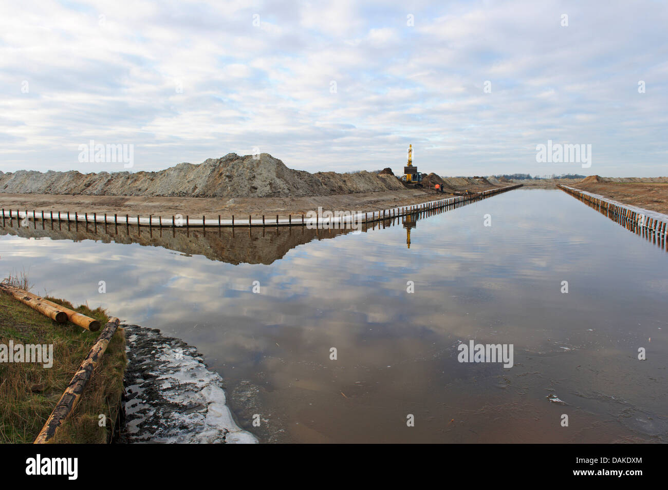 renewal of waterways, Netherlands, Texel - Stock Image