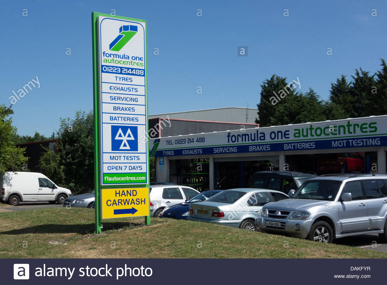 Formula One Autocentre in Barnwell Road, Cambridge - Stock Image