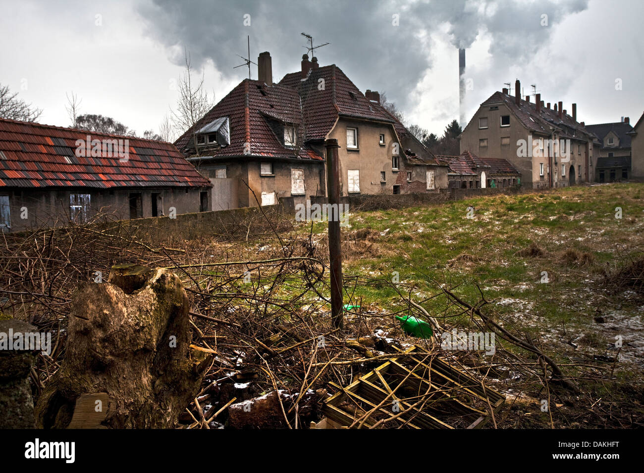 abandoned and decaying districts of miners Schlaegel und Eisen, Germany, North Rhine-Westphalia, Ruhr Area, Gladbeck - Stock Image