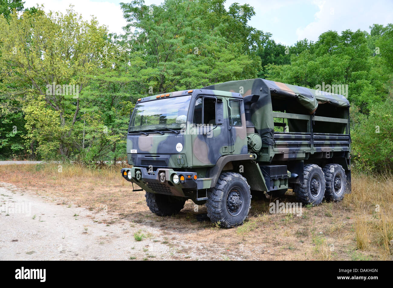 military personnel carrier 2 1 2 ton truck in camouflage stock photo 58208549 alamy. Black Bedroom Furniture Sets. Home Design Ideas