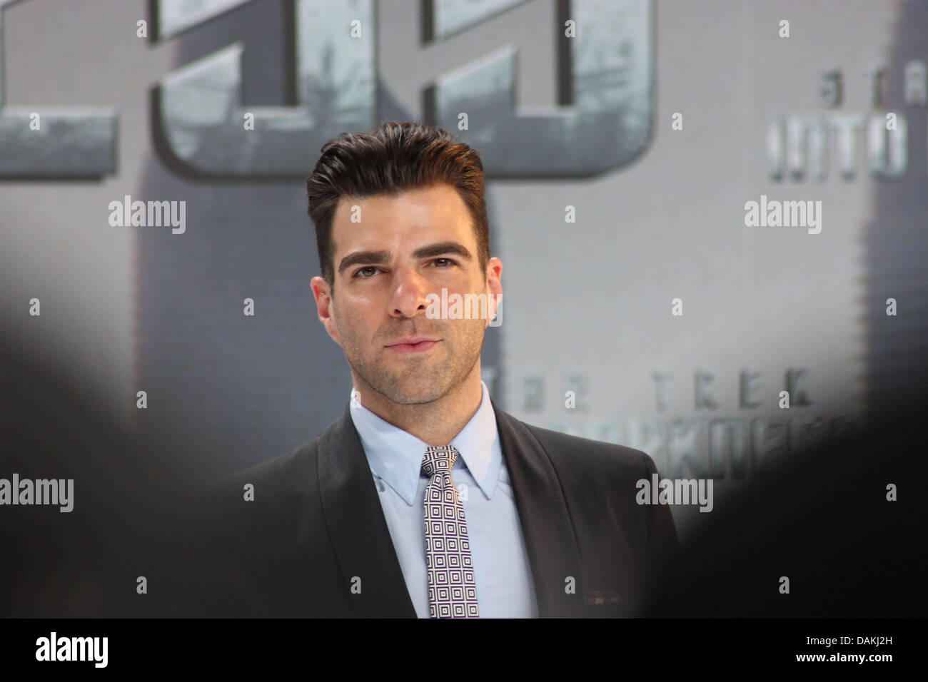 Zachary Quinto - Germany premiere of  'Star Trek Into Darkness' at CineStar, Berlin - April 29th 2013 - Stock Image