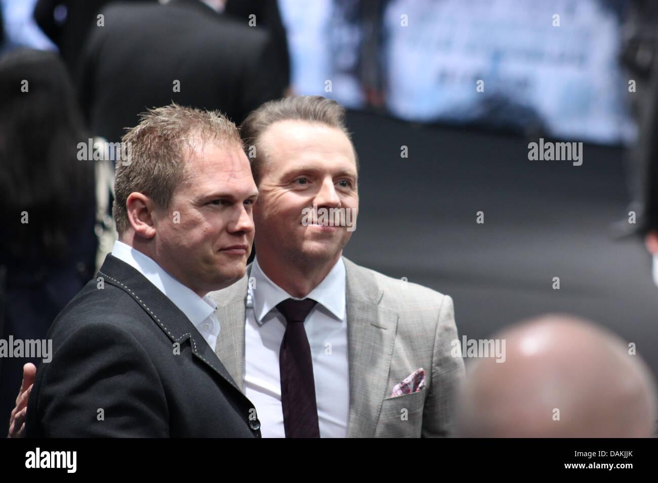 Simon Pegg - Germany premiere of 'Star Trek Into Darkness' at CineStar at Potsdamer Platz, Berlin - April - Stock Image