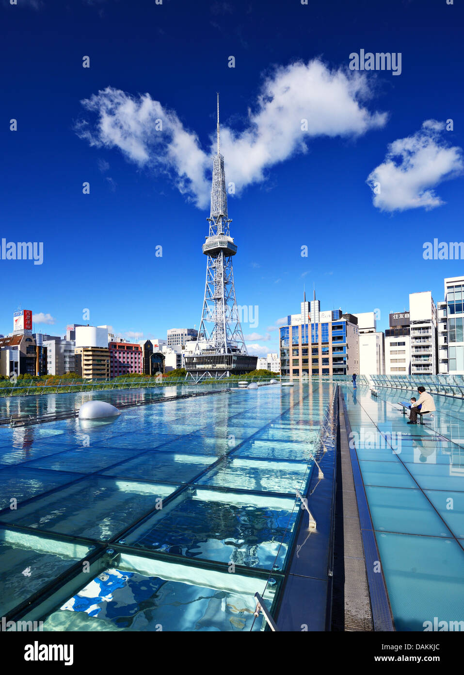 Oasis 21 and the TV Tower in Nagoya, Japan. - Stock Image