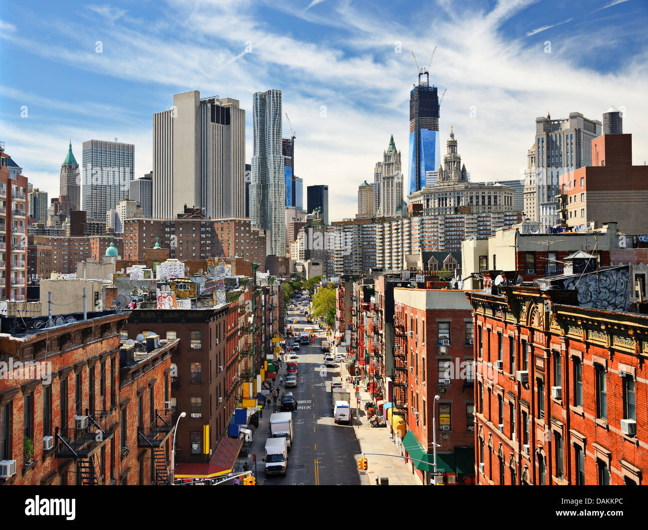 Lower East Side Manhattan Cityscape in New York City. - Stock Image