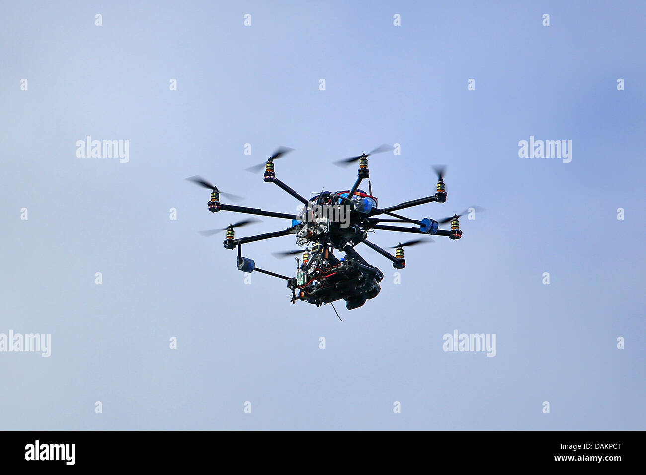 flying camera helicopter - Stock Image