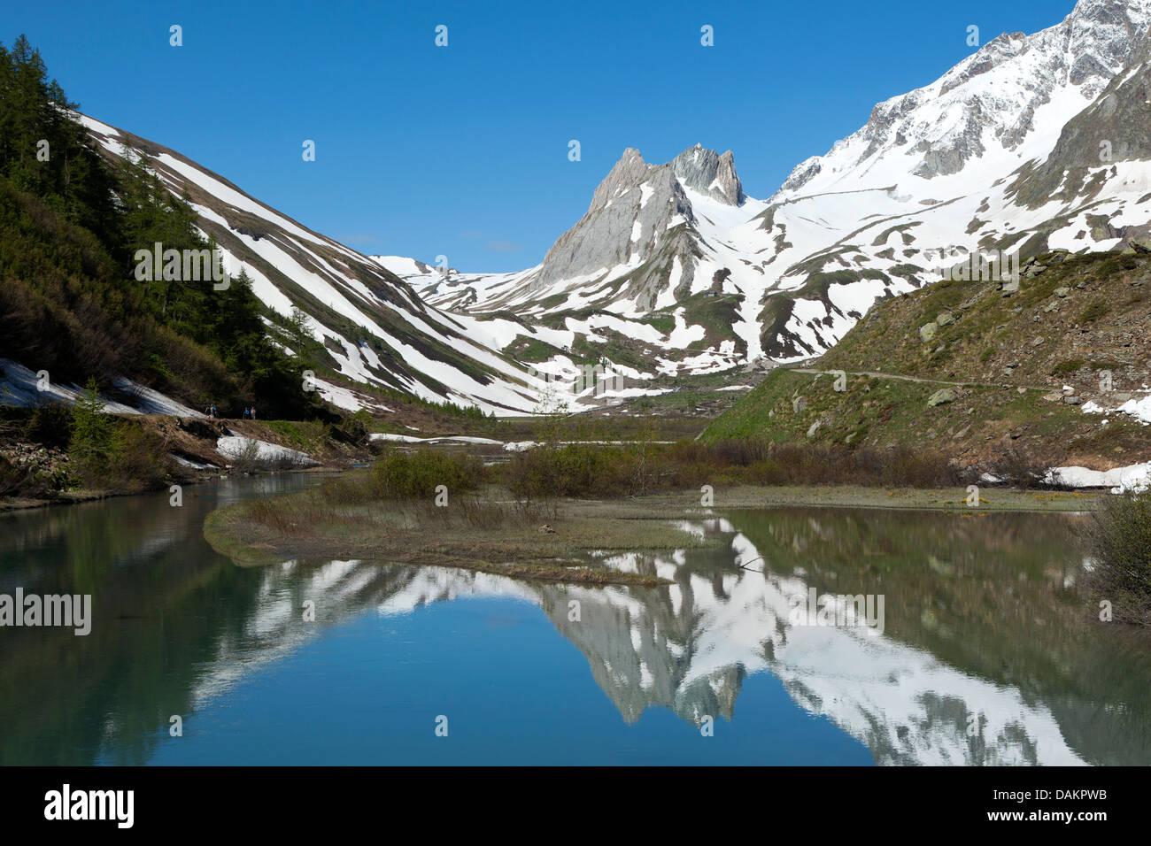 Lac du Combal, Val Veny - Stock Image