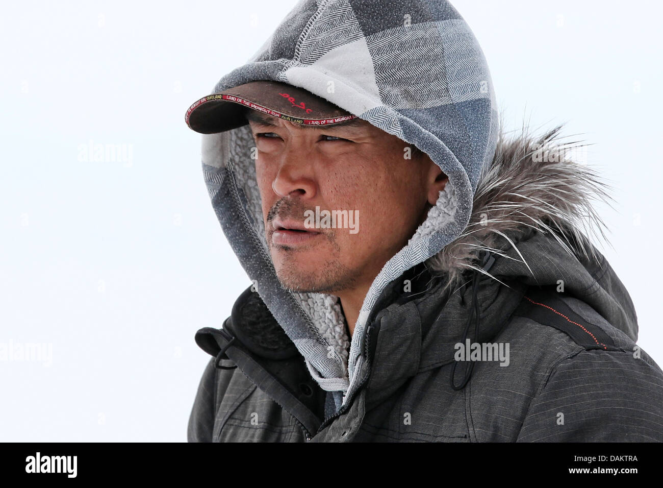 portrait of an inuit, Canada, Nunavut - Stock Image