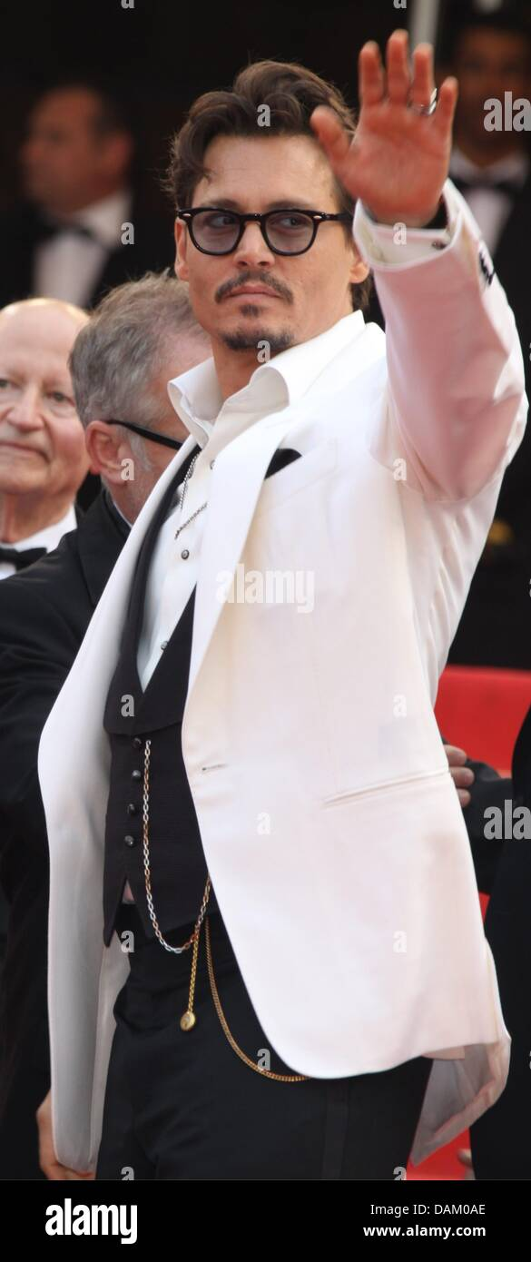 5a7123058 US actor Johnny Depp attends the premiere of 'Pirates Of The Carribean: On  Stranger Tides' at the 64th Cannes International Film Festival at Palais  des ...