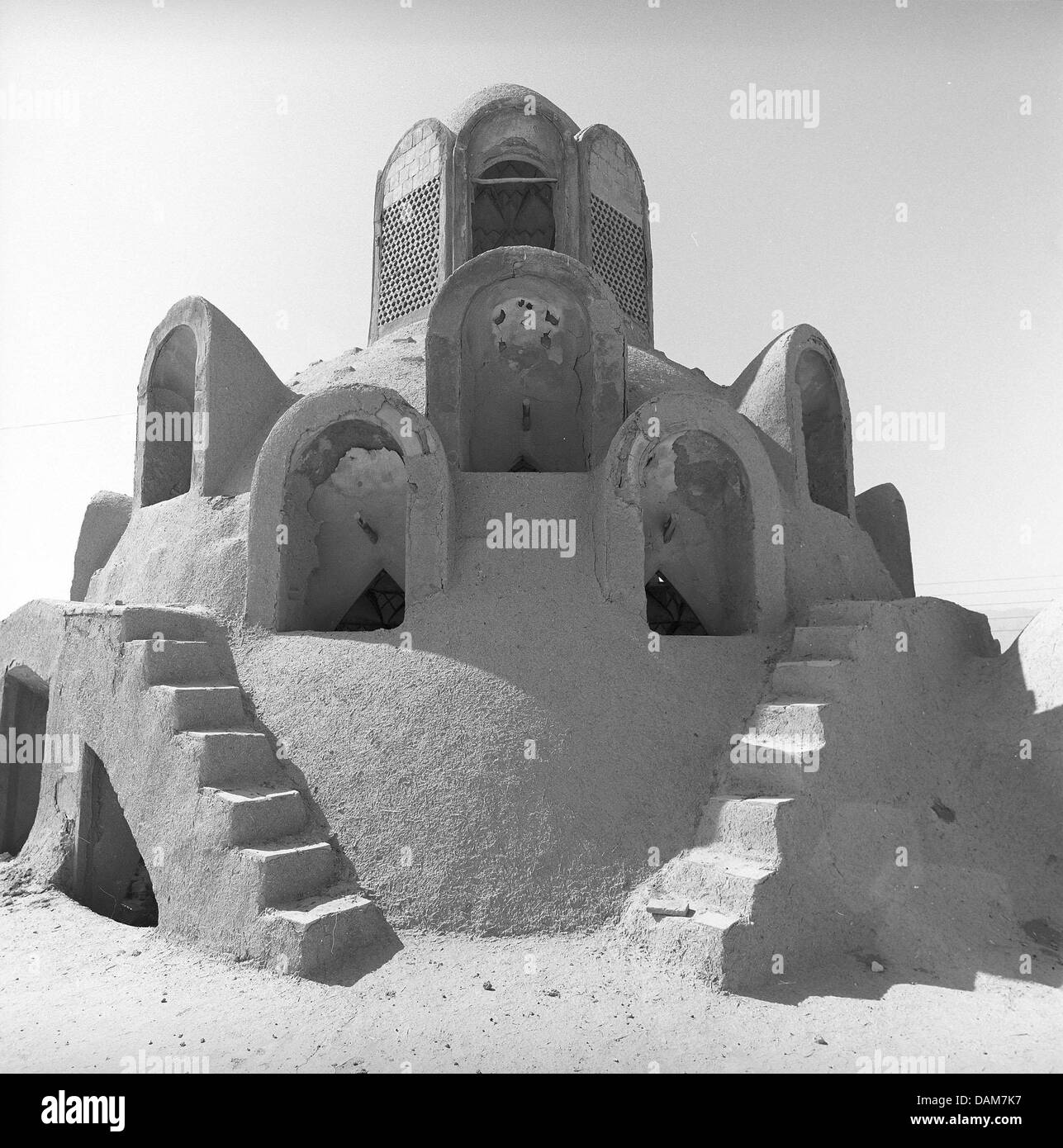 A photo of the series 'Desert Architecture' of Iranian photographer Bahman Jalali (1944-2010) is featured - Stock Image