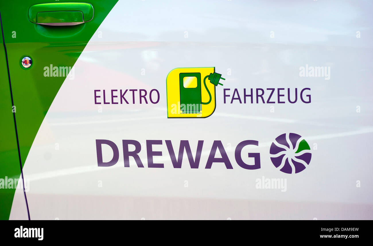 A new electric car from DREWAG Public Utilities GmbH is seen in Dresden,Germany, 26 May 2011. Dresden want - Stock Image
