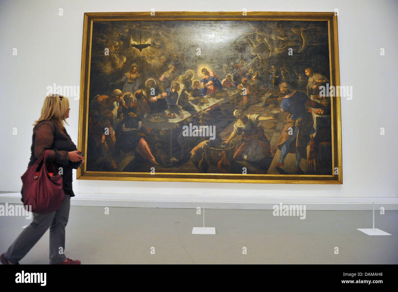 The work of art 'The last supper' by the artists Jacopo Tintoretto is presented at the 54th Art Biennale in Venice, Stock Photo