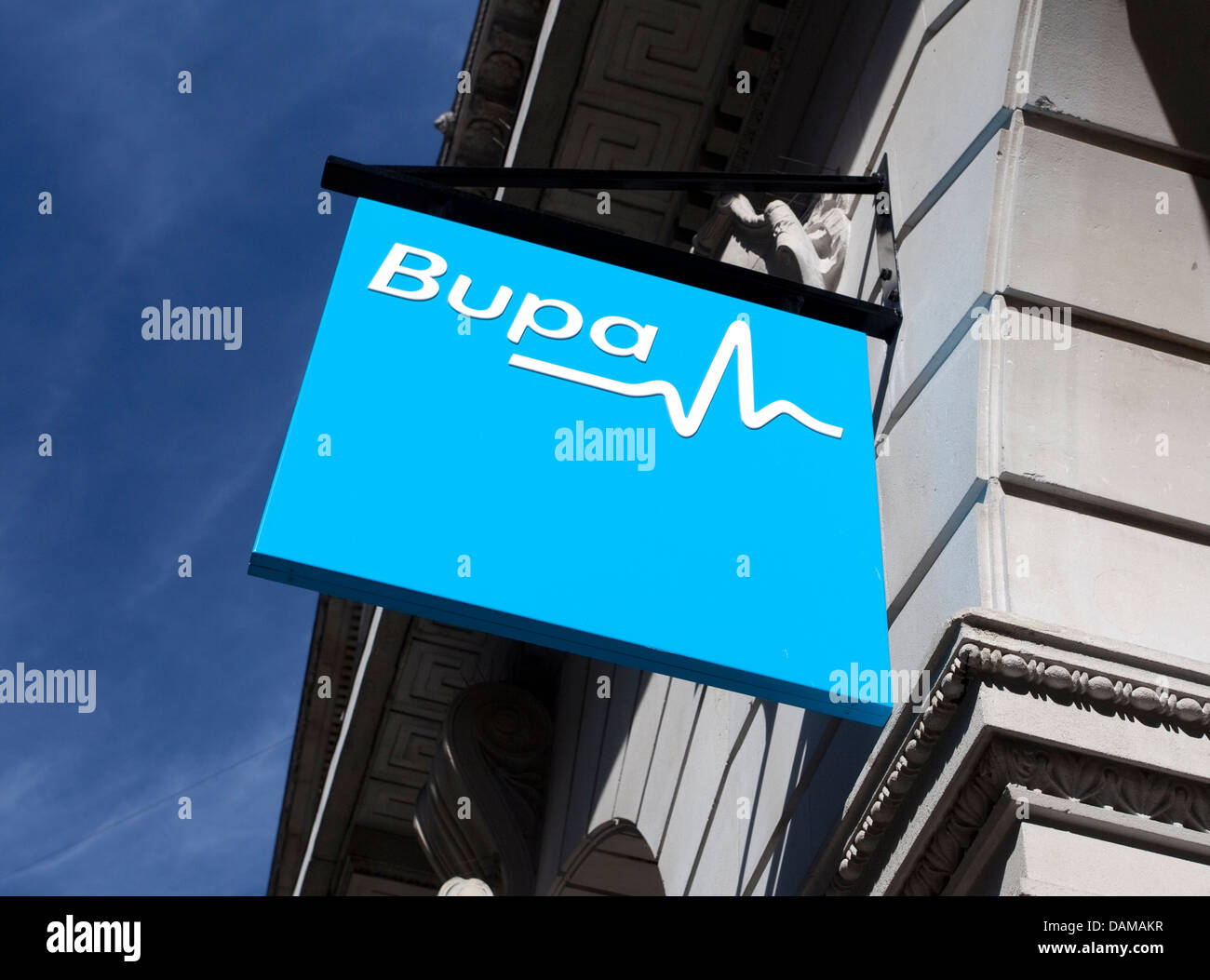 Sign outside Bupa dentistry centre in the City of London - Stock Image