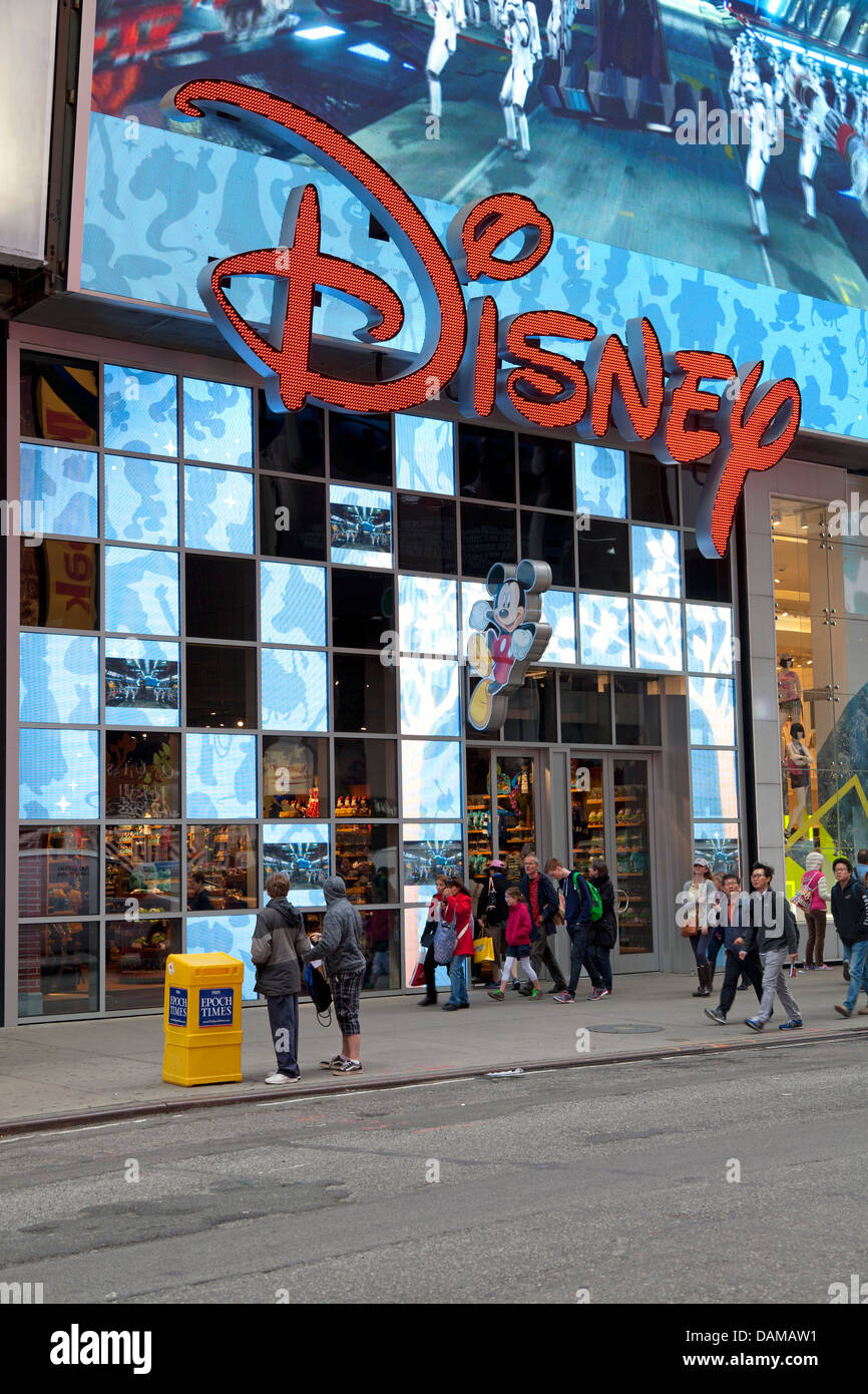 Disney Store At Times Square,Manhattan, NYC Stock Photo