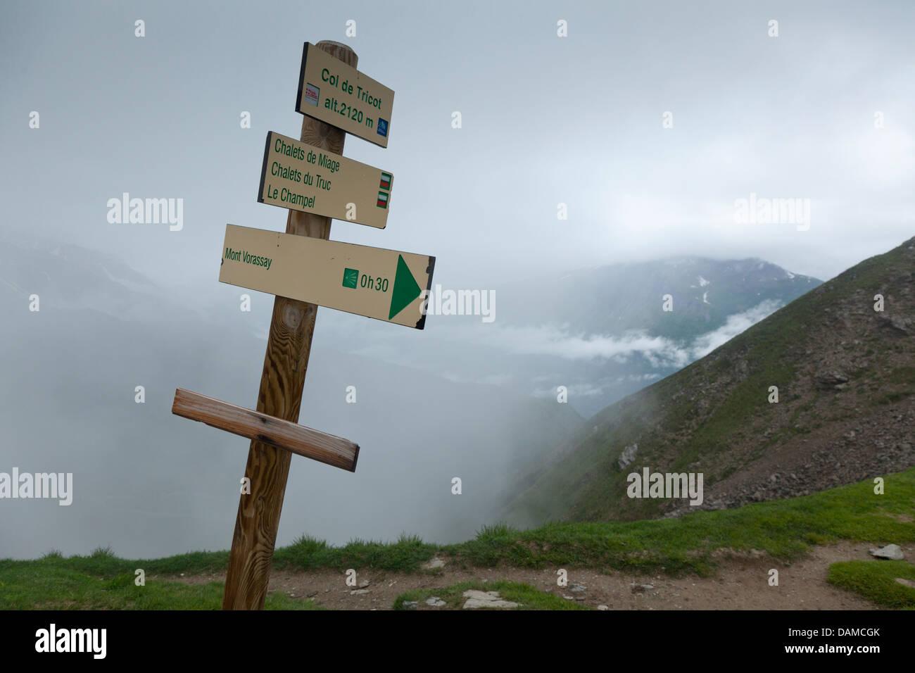 Col de Tricot - Stock Image