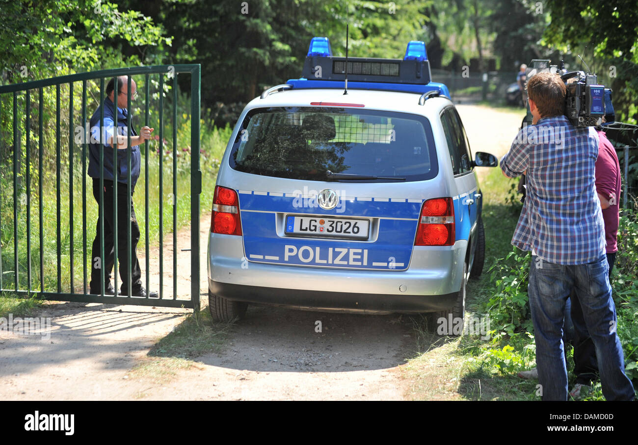 A Police Car Enters The Ground Of The Market Gardening Company  Bienenbuettel In Neu Steddorf, Germany, 07 June 2011. Sprouts From  Bienbuettel Could Be The ...