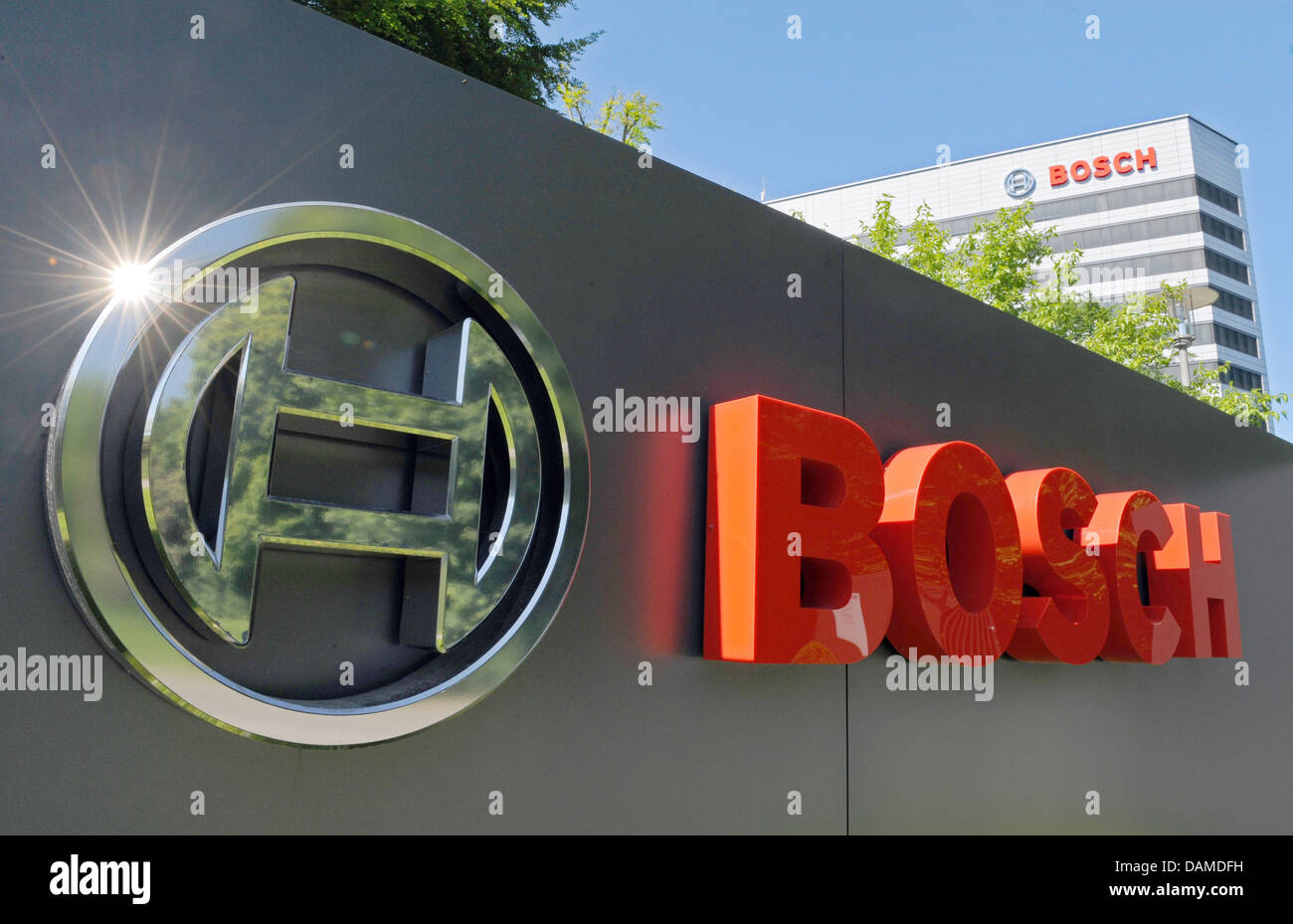 dpa file) - A file picture dated 4 June 2010 of the Bosch logo in