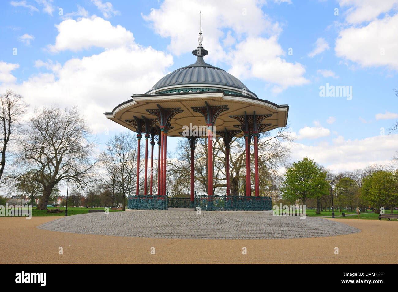 Bandstand, centre  center Clapham Common Stock Photo