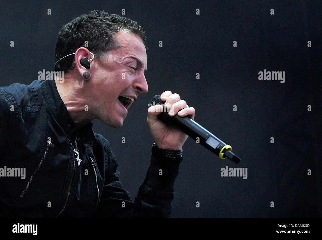 Musician Chester Bennington of the US band Linkin Park