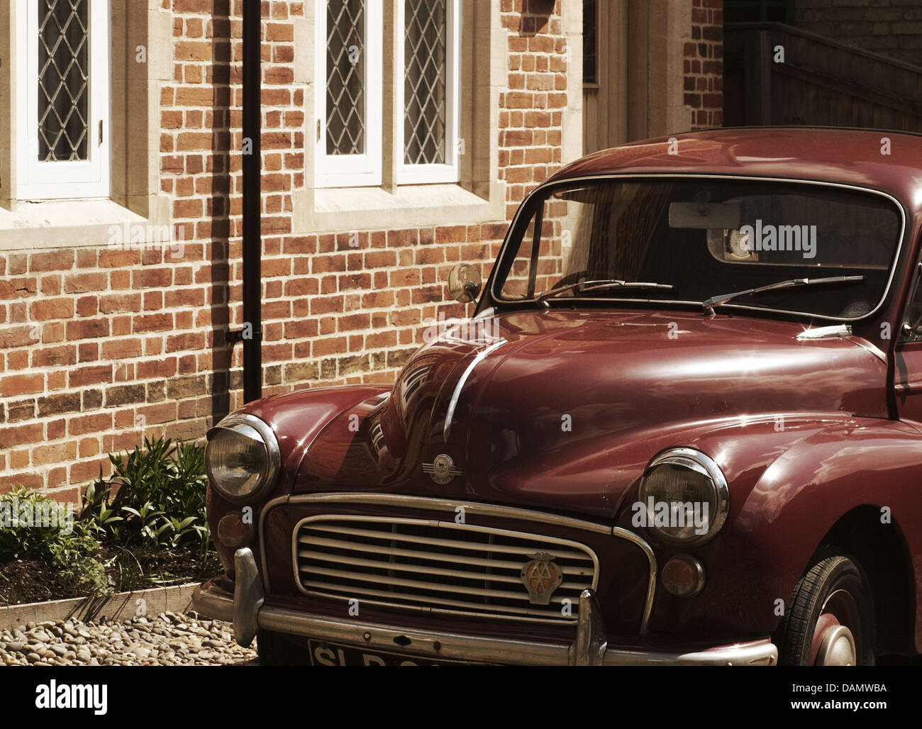 Vintage car, British, in muted tones - Stock Image