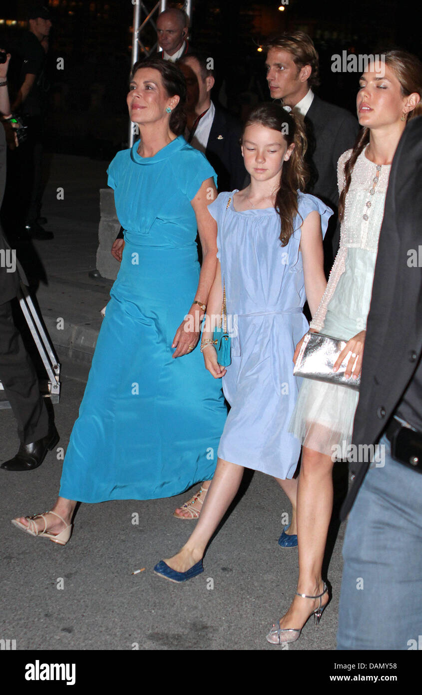 Princess Caroline of Hanover with her daughters Princess Alexandra ...