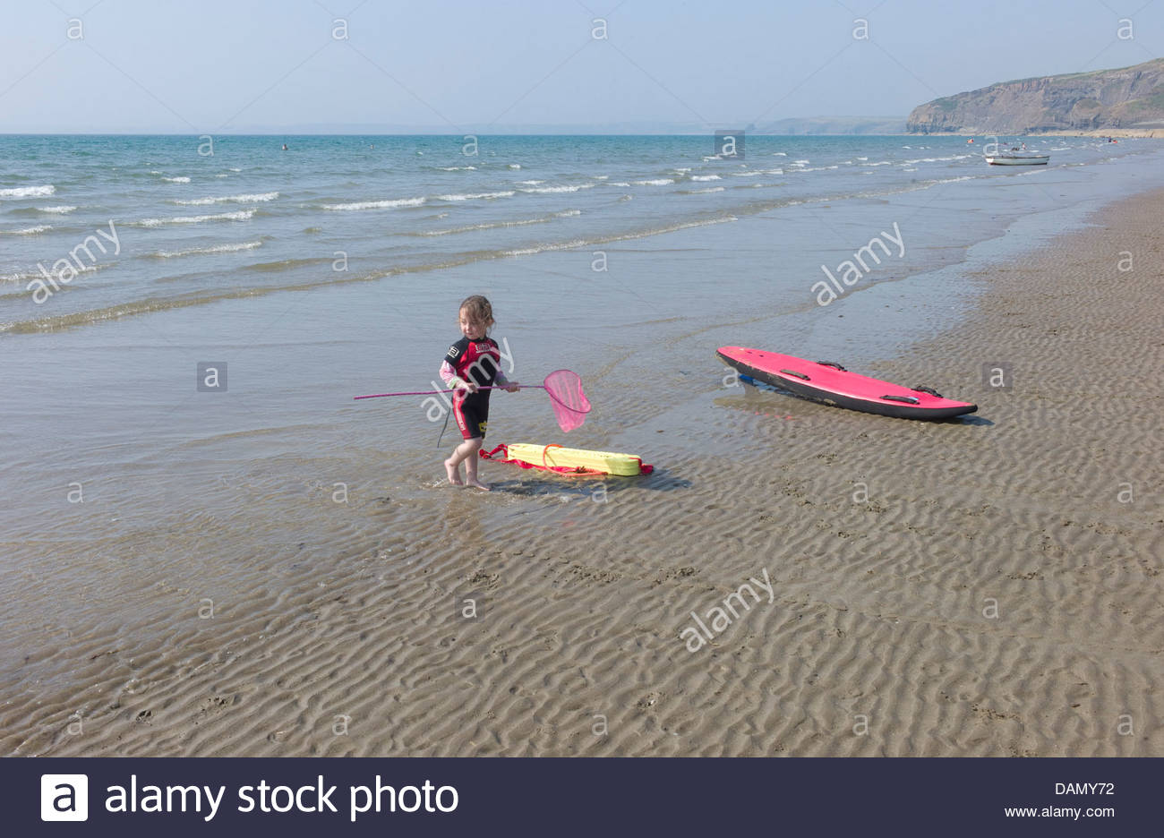 By the seaside at Broad Haven, Pembrokeshire, South Wales, UK - Stock Image