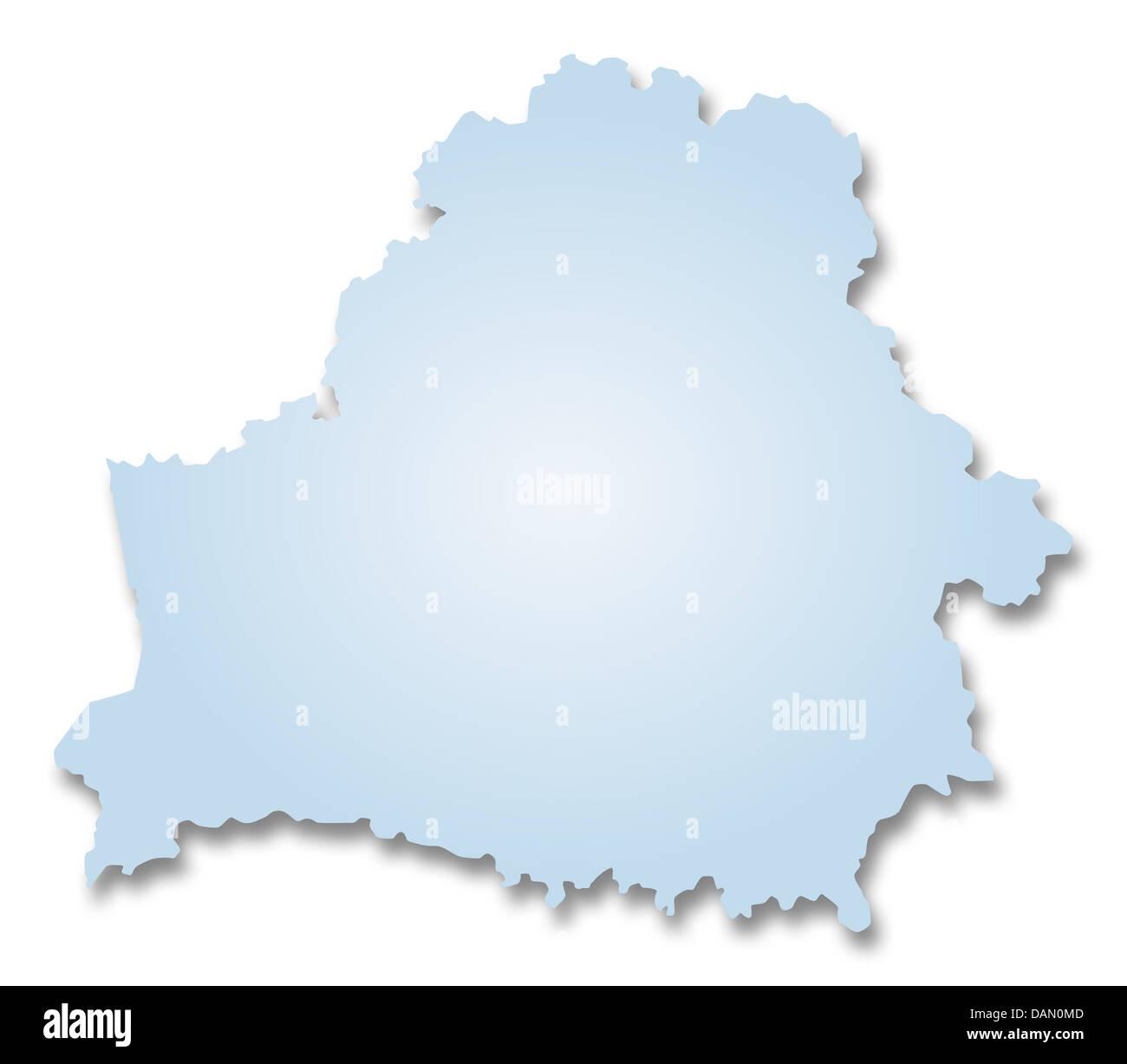 Map of Belarus - Stock Image
