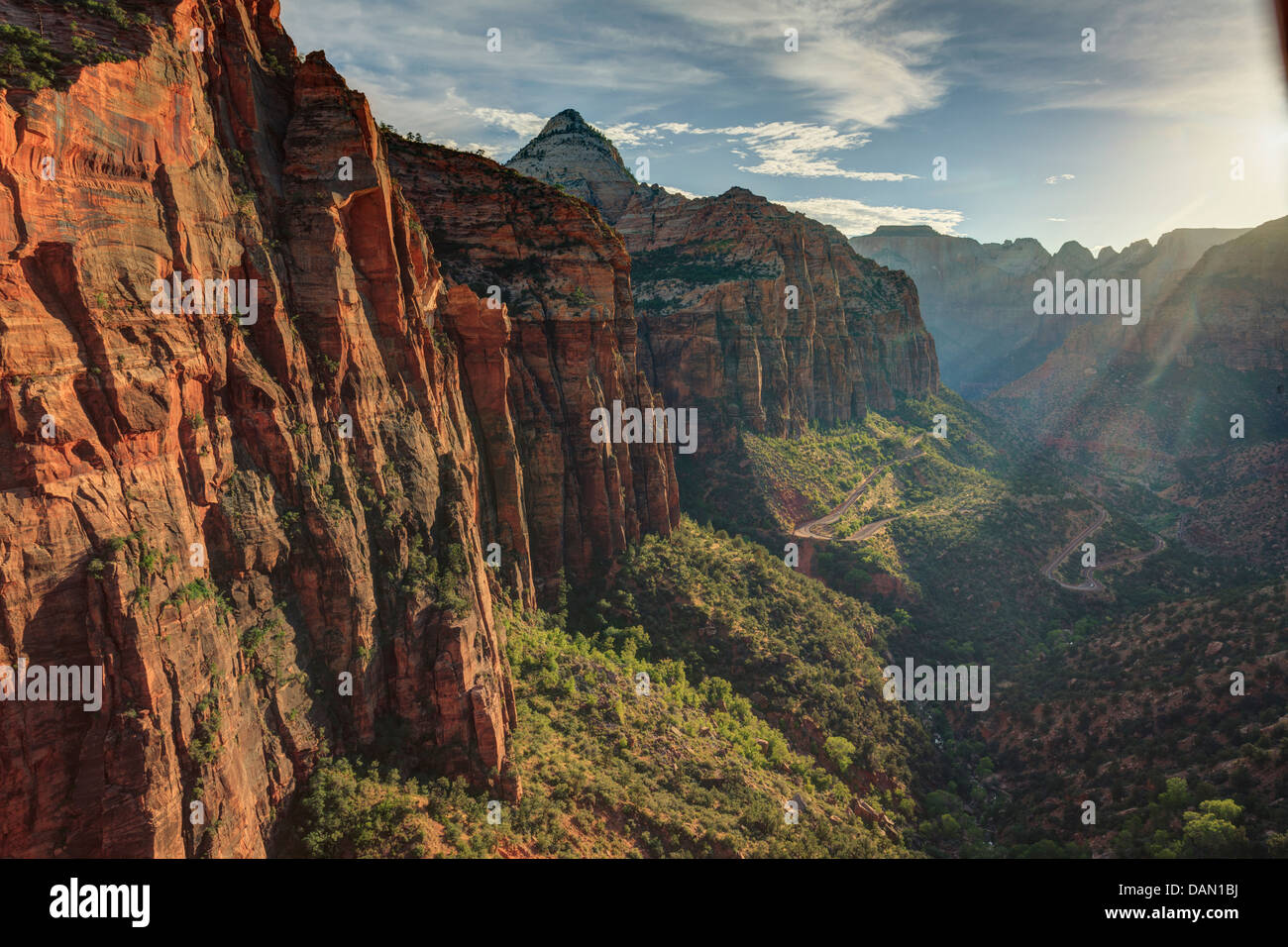 USA, Utah, Zion National Park, Canyon Overlook viewpoint - Stock Image