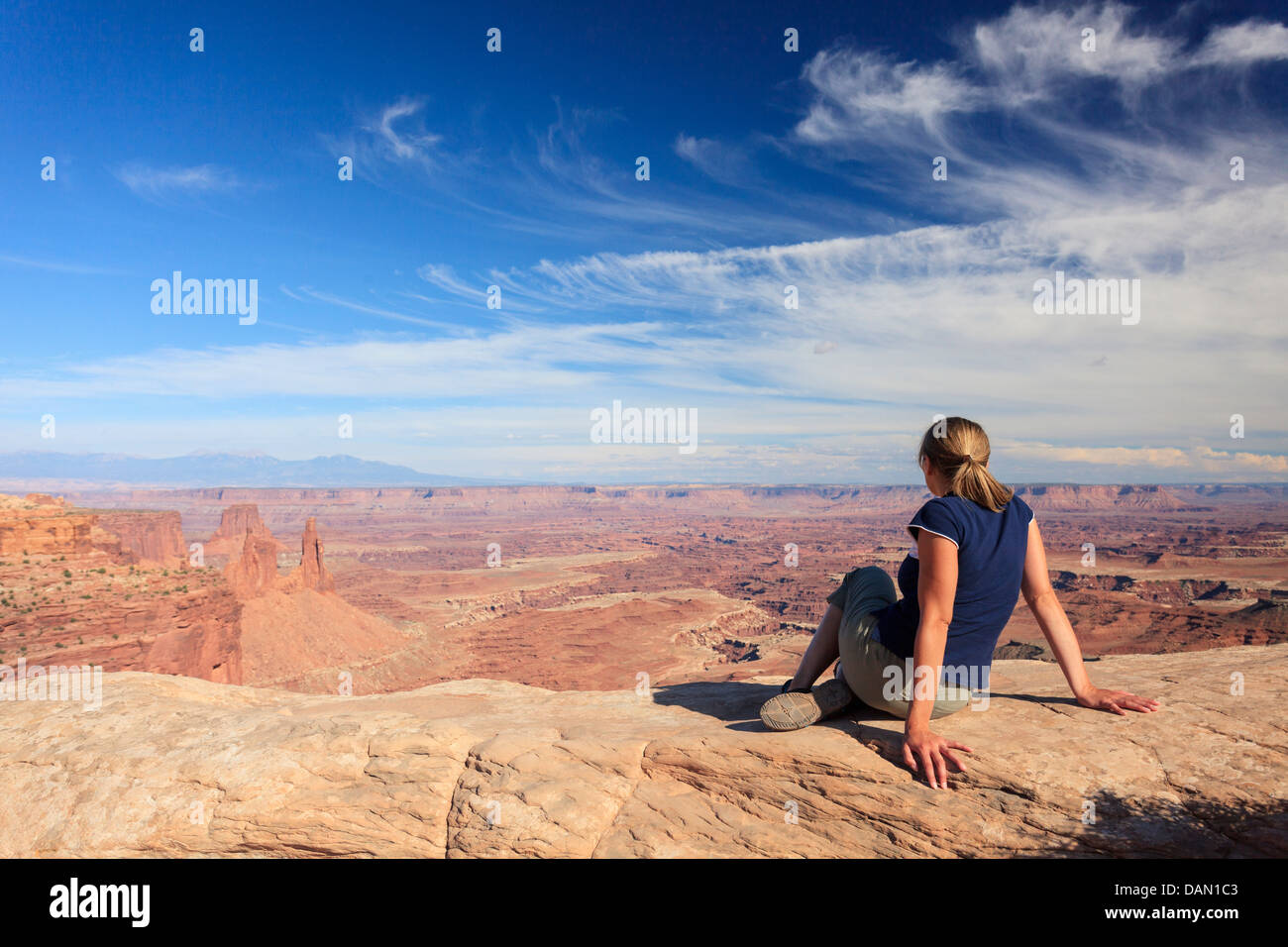 USA, Utah, Canyonlands National Park, Island in the Sky district, Grand View Point - Stock Image