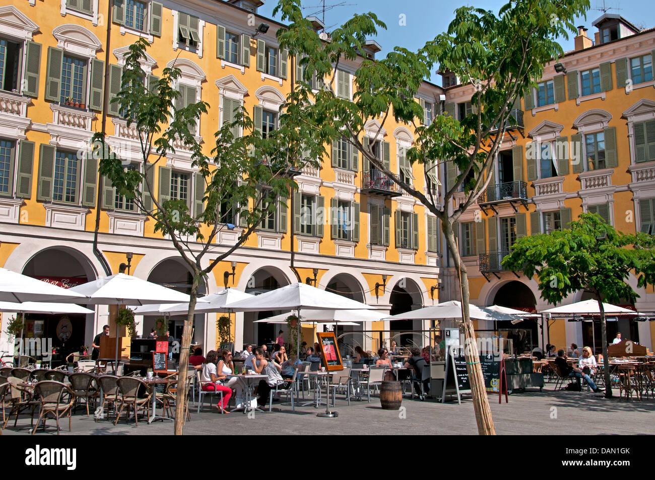 Restaurant Place Garibaldi Nice French Riviera Cote D'Azur France Stock Photo