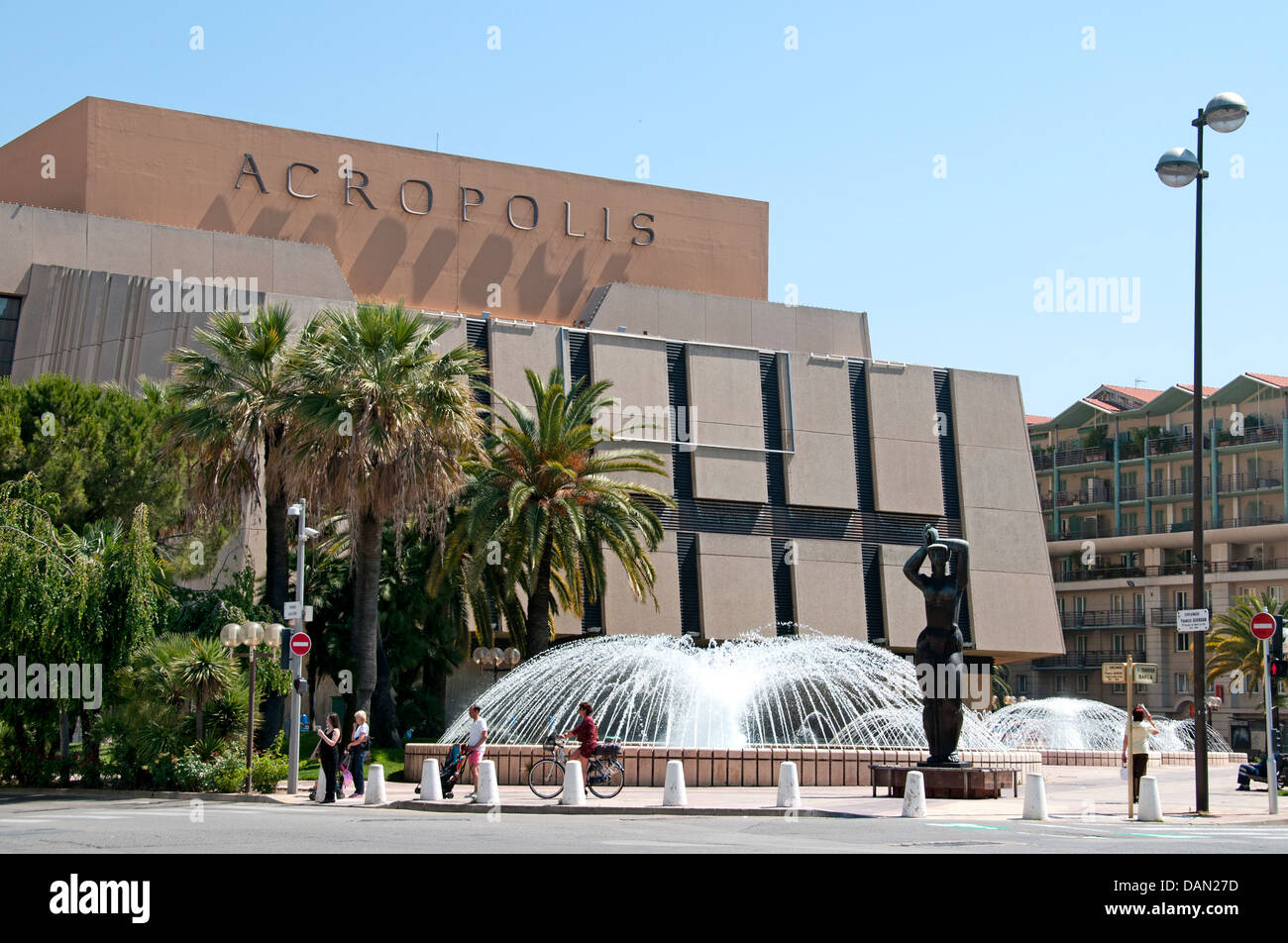Nice Acropolis Exhibitions and Congress Palace Center  France French - Stock Image