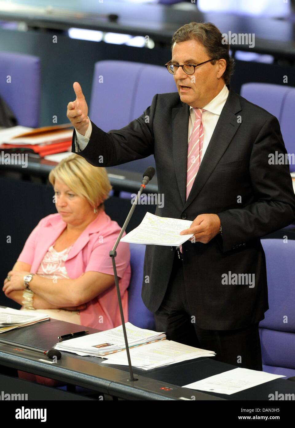 Parliamentary Secretary of State at the Ministery of Economy Hans-Joachim Otto speaks during question time on the - Stock Image