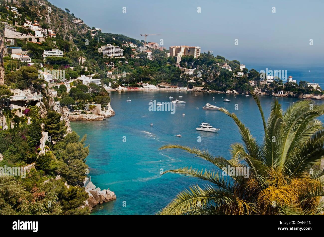 Coastline Cap Estel between Nice and Monaco French Riviera - Stock Image