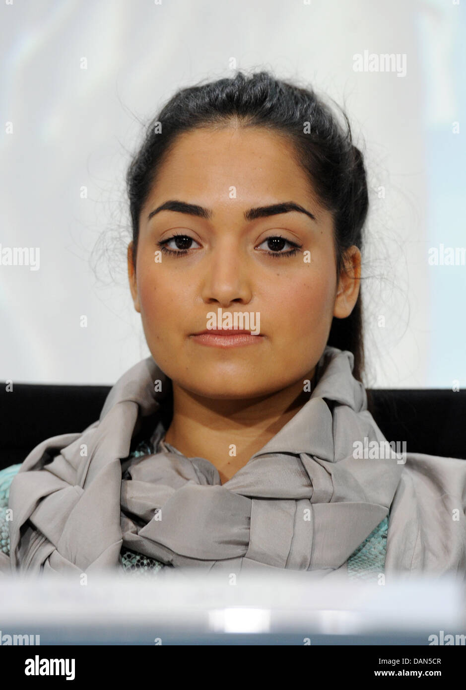 Singer Bahar Kizil attends a press conference at the start of the youth conpetition 'Home Almanya - Show us - Stock Image