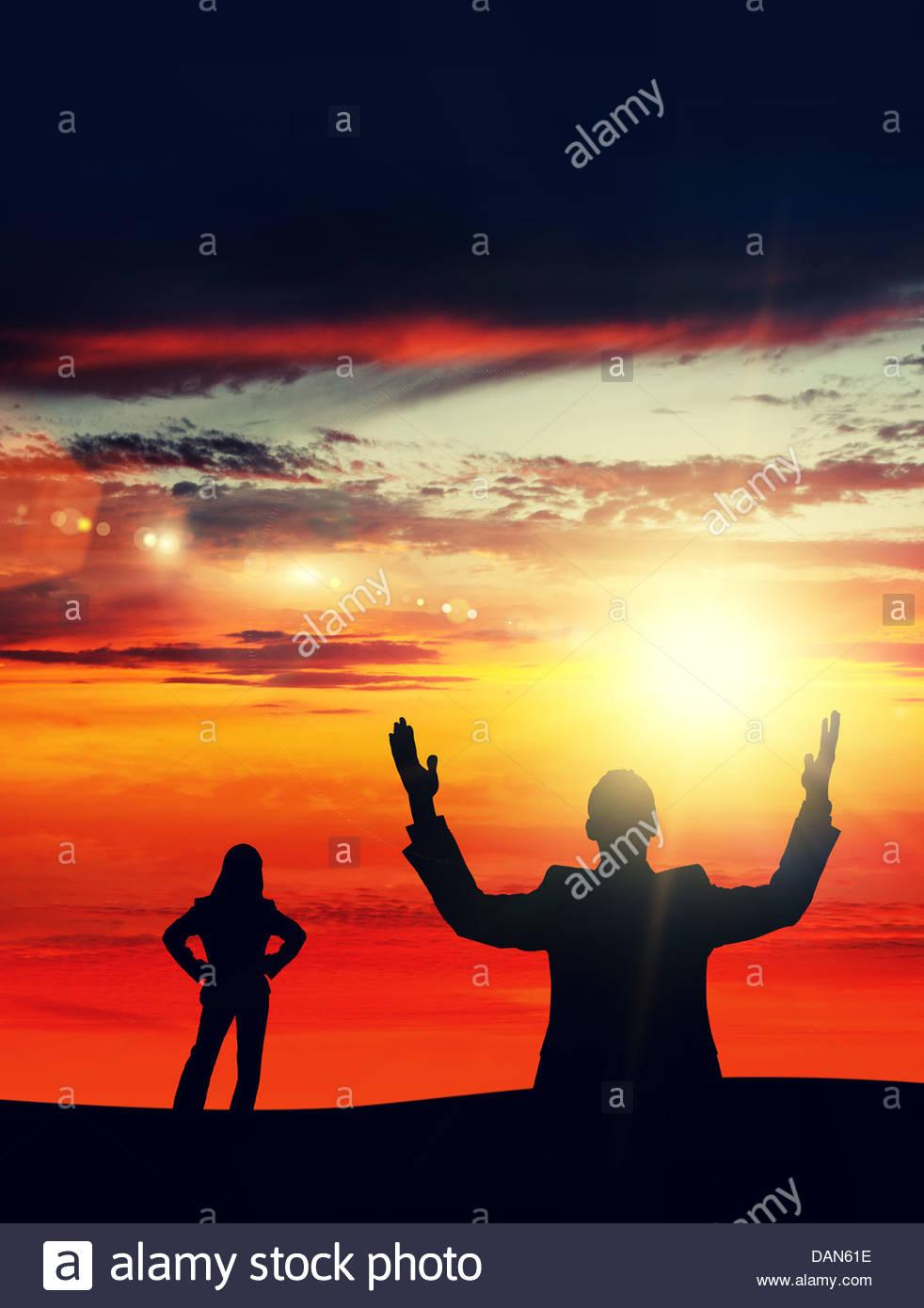 sunset glory - Stock Image