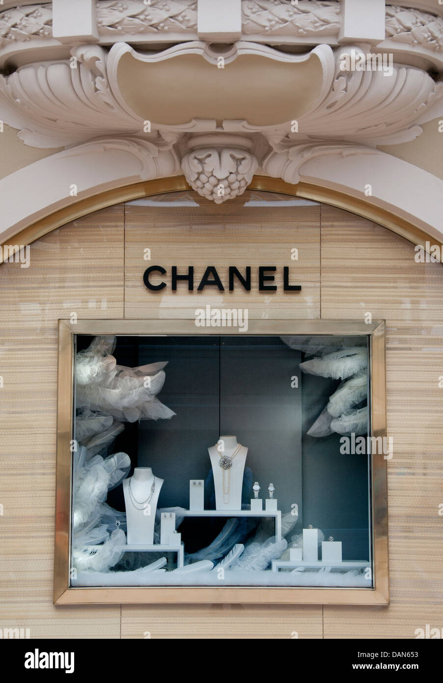 Coco Chanel Monaco French Riviera Jewelry Jewels France - Stock Image