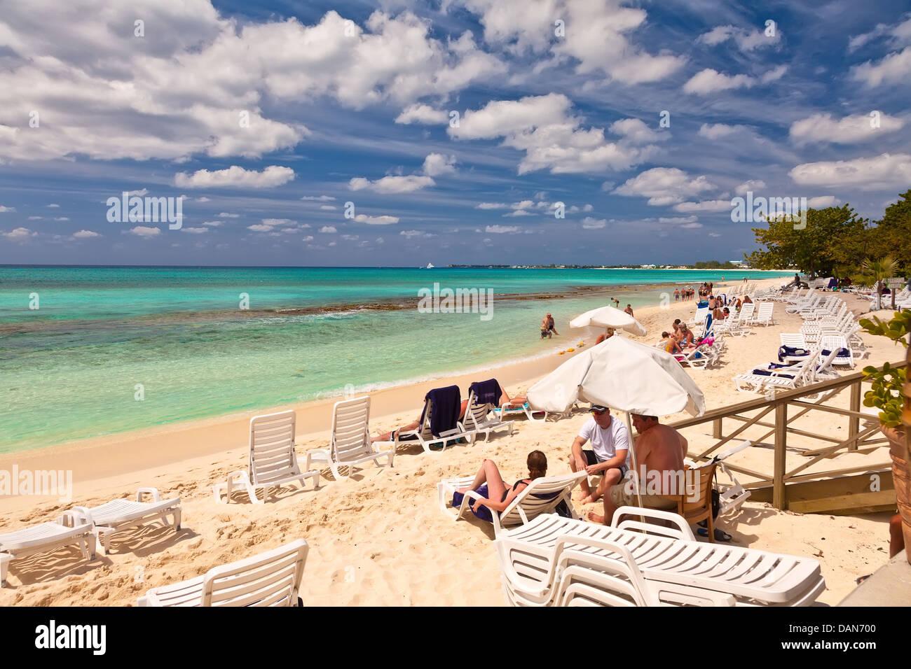 Seven Mile Beach - Stock Image