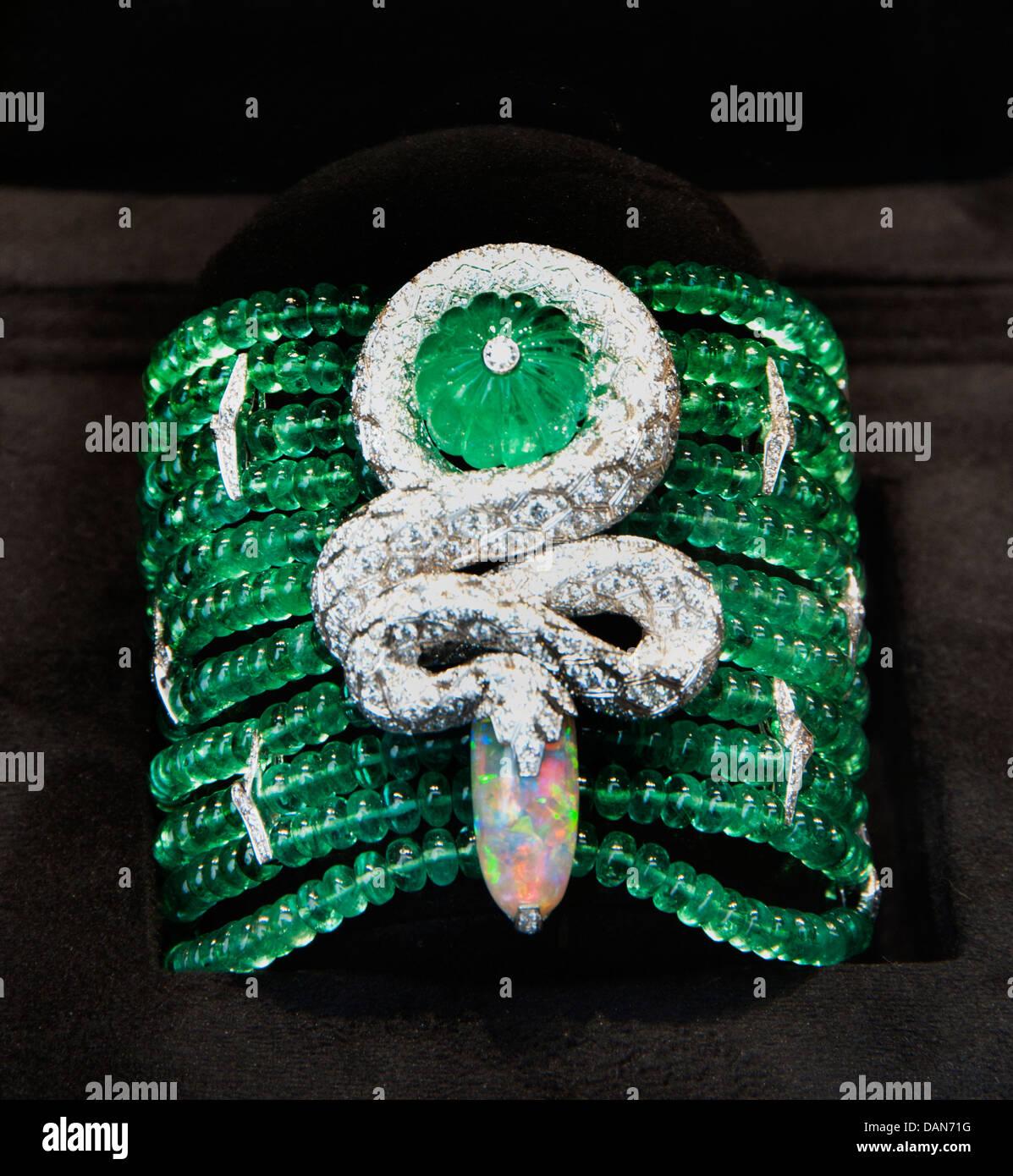 Diamond Bracelet Cartier Jewelry Monaco French Riviera Jewelry - Stock Image
