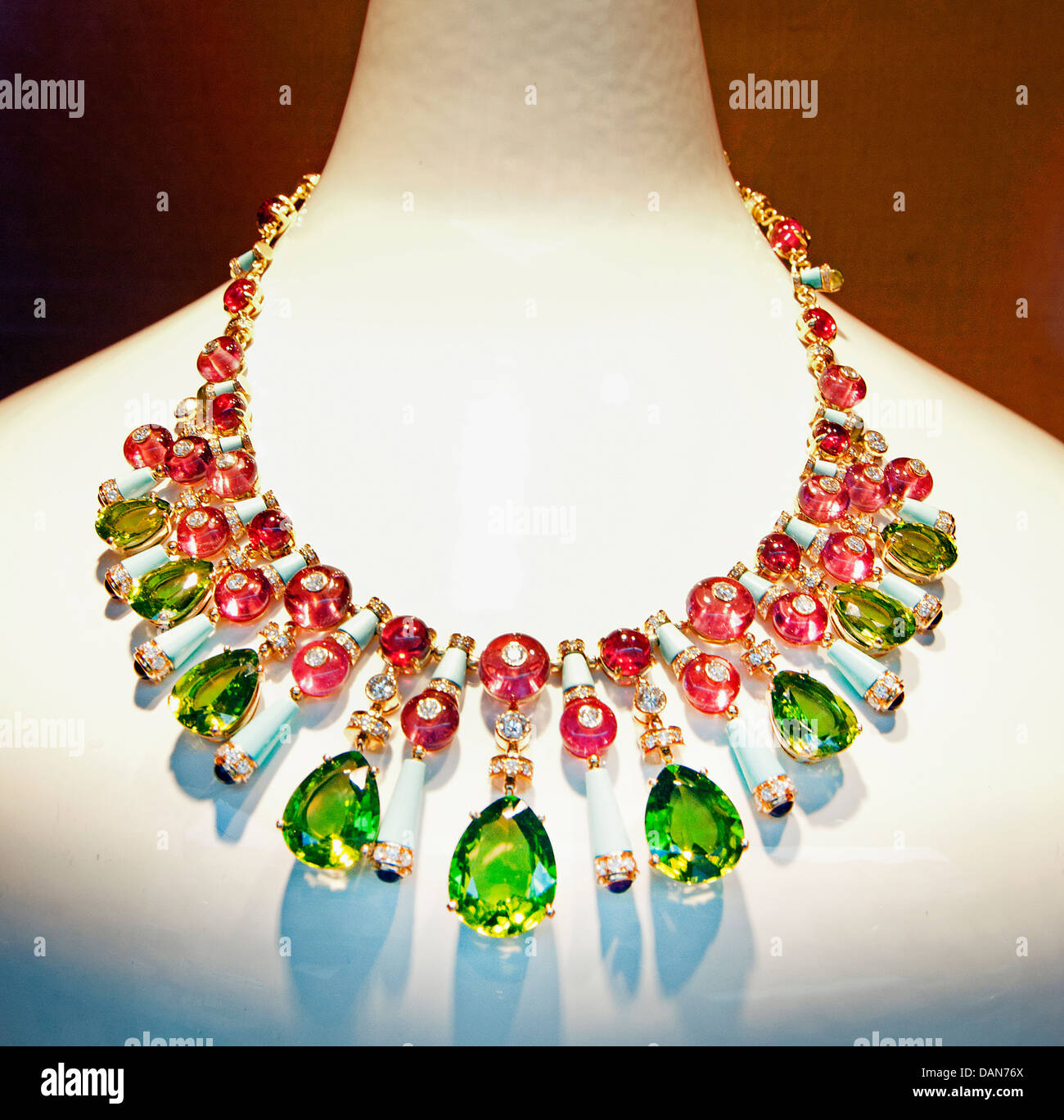 Necklace Dior Monaco French Riviera Jewelry Jewels - Stock Image