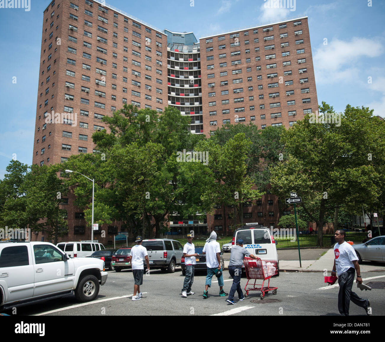 Manhattanville Housing Project In Harlem In New York Stock