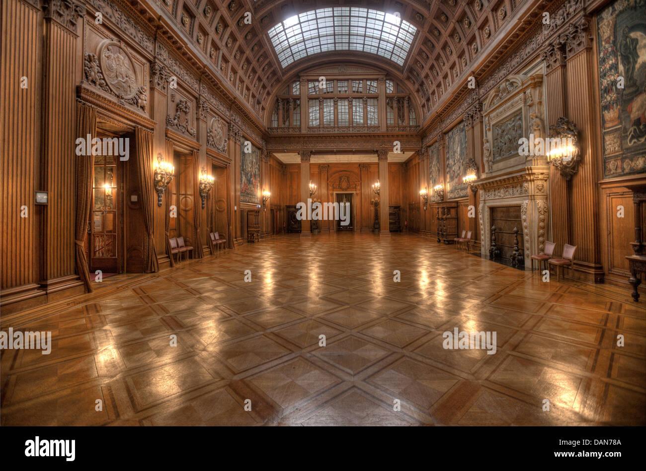 The Upper Hall in the Villa Hügel of Essen - Stock Image