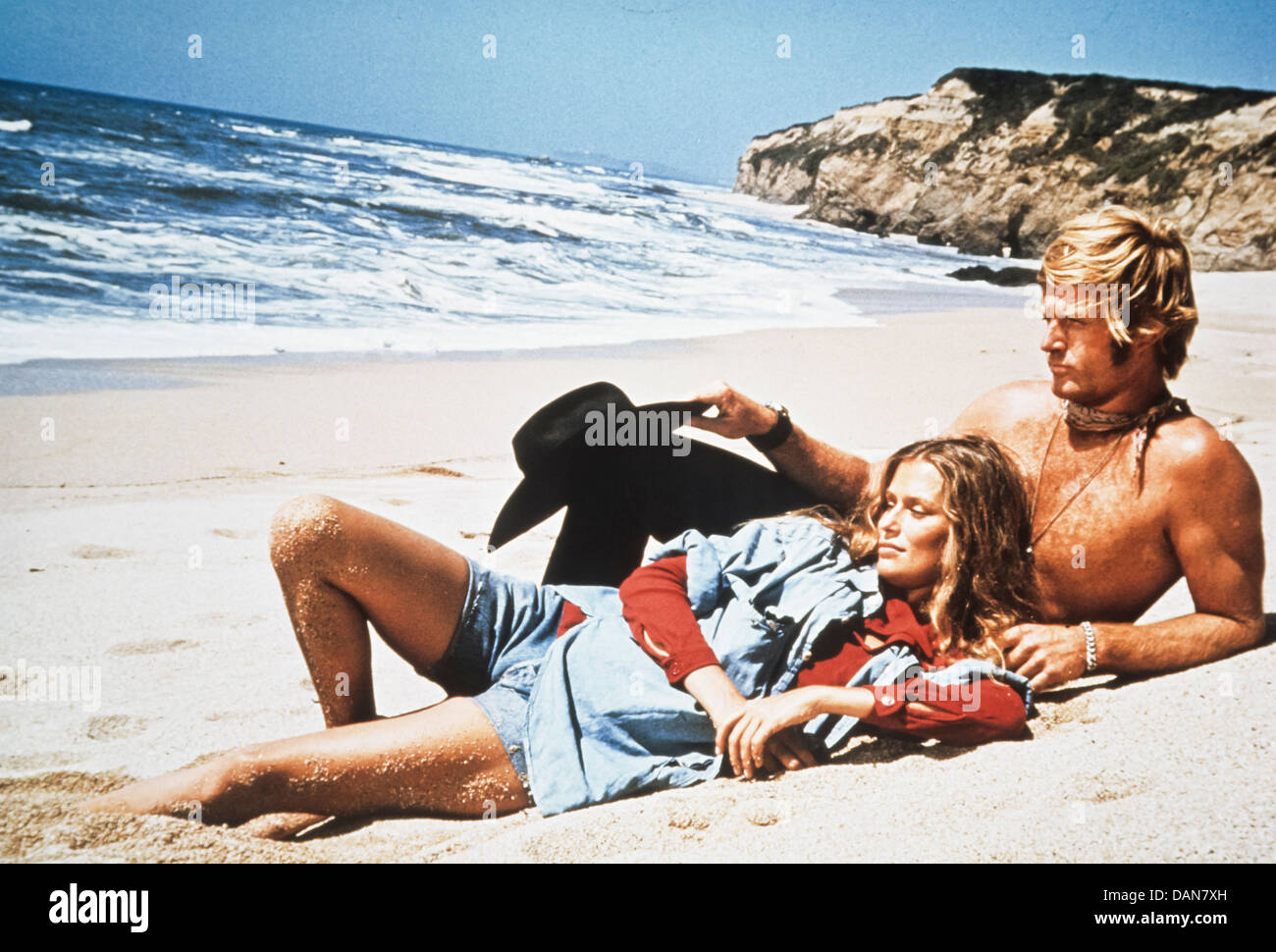 Robert Redford and Lauren Hutton, Little Fauss and Big Halsy 1970 - Stock Image