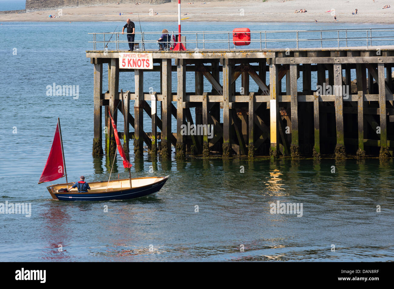 Aberystwyth, Wales, UK, 16 July 2013. Following the recent heatwave, a refreshing breeze sees the temperature drop - Stock Image